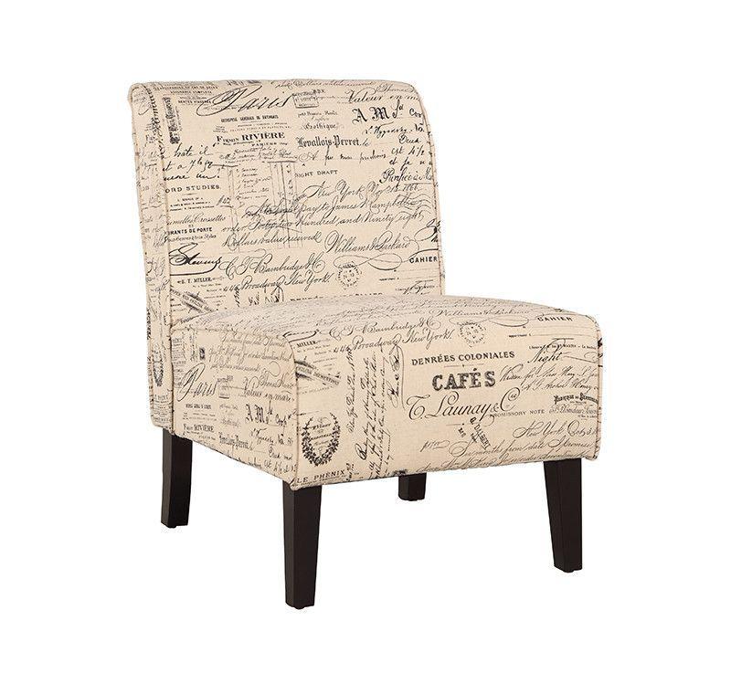 Linon 36096SLIN-01-KD-U Coco Accent Chair - Script Linen