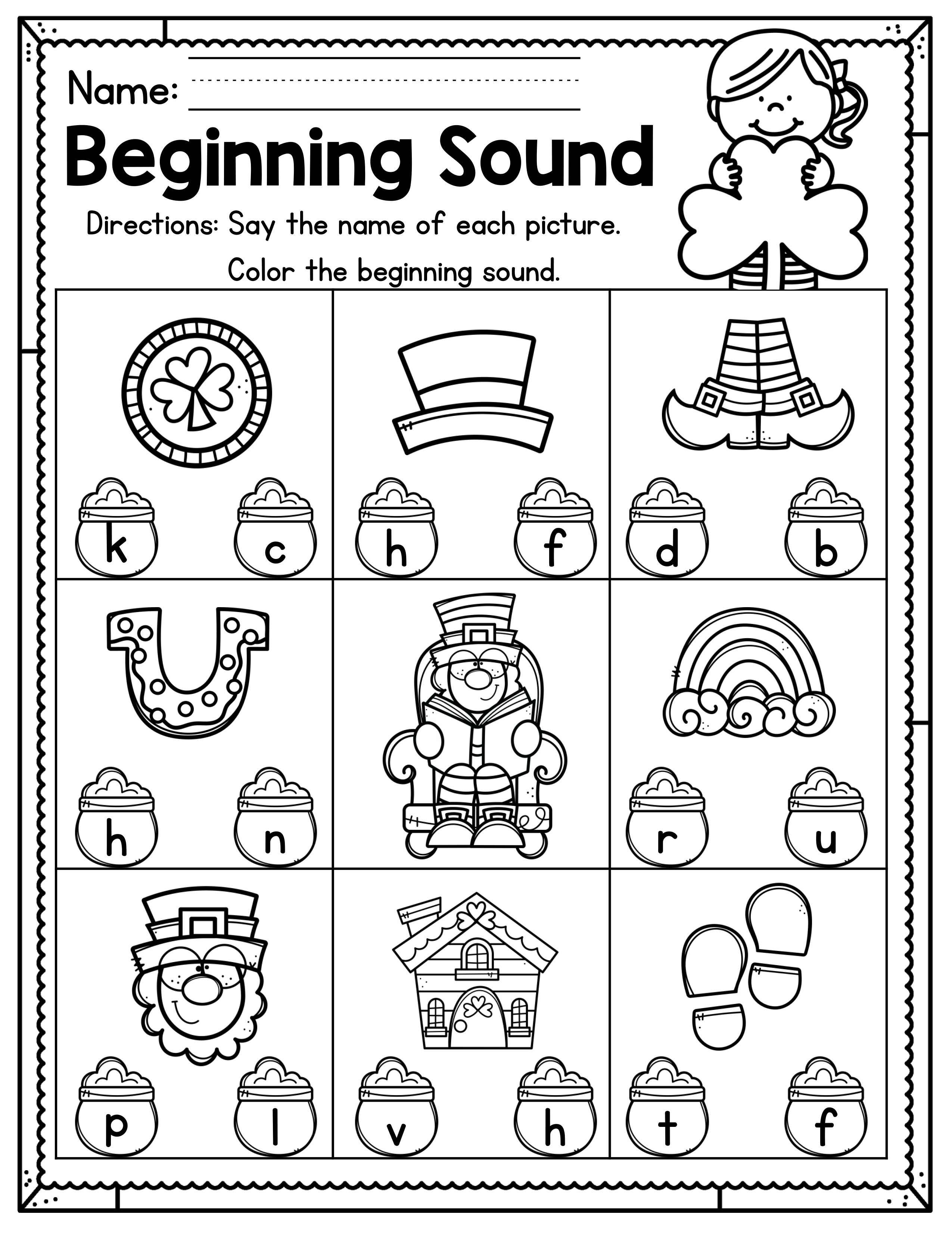 St Patrick S Day Preschool Worksheets March Distance