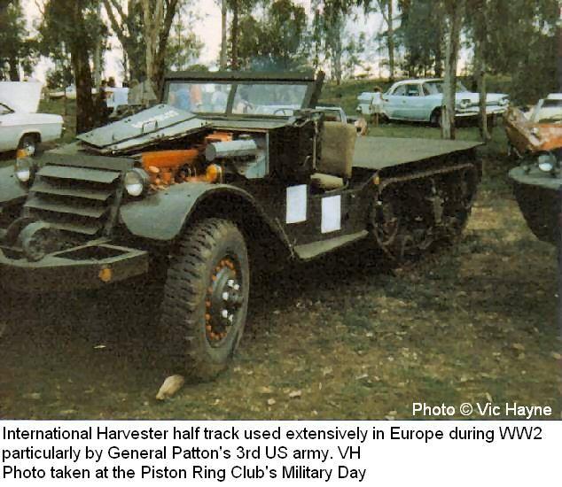 International Harvester Half Track Used Extensively In