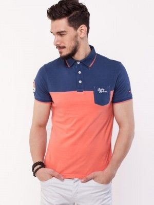 Being Human Colour Block Style Polo Shirt