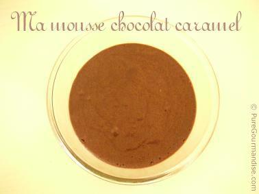 mousse au chocolat et caramel