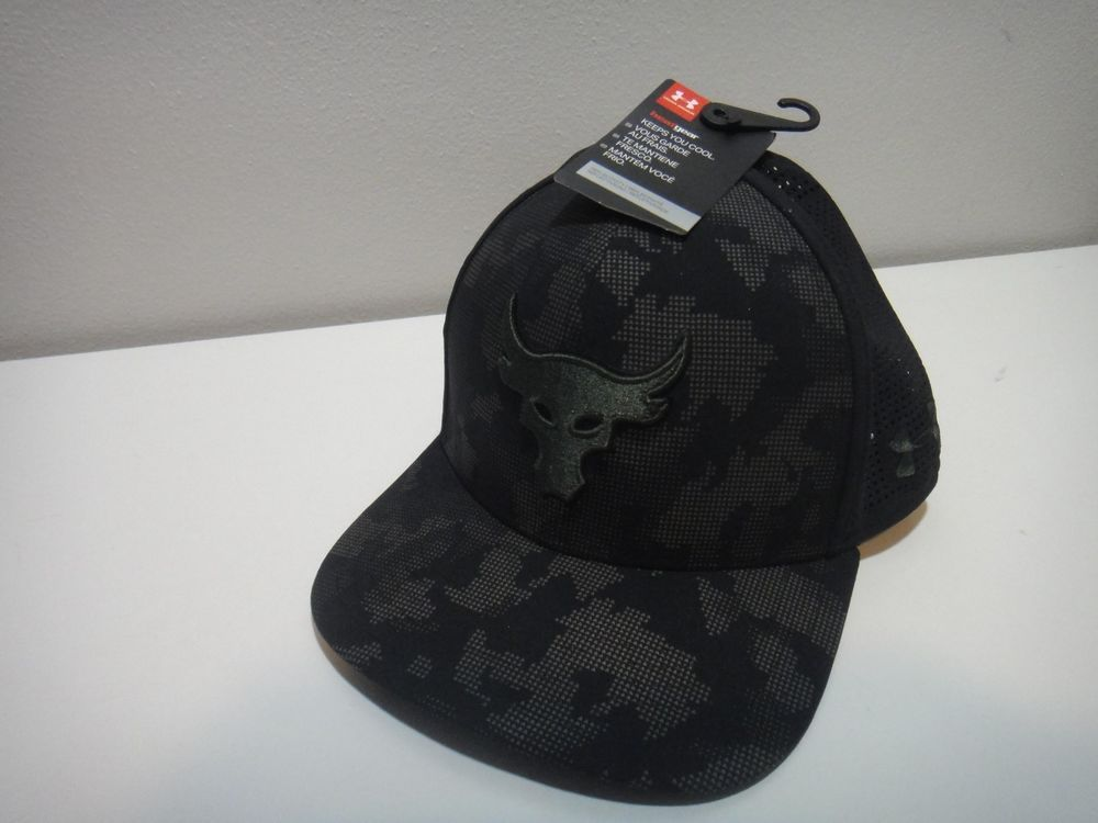 743683d52c9 ... top quality under armour mens project rock bull dwayne johnson heatgear  flat fit hat underarmour 81859