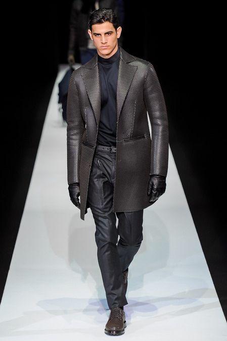 .Emporio Armani fall 2013 mens fashion #emporioarmani #milanfashionweek