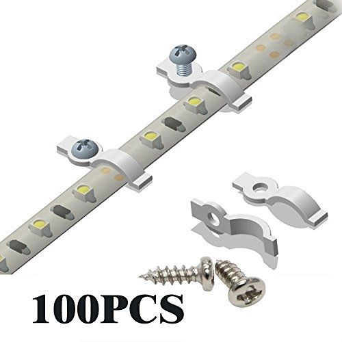 100 Kit Mounting Clips Screws Hardware Lighting Brackets Parts Tool Waterproof Spiritled
