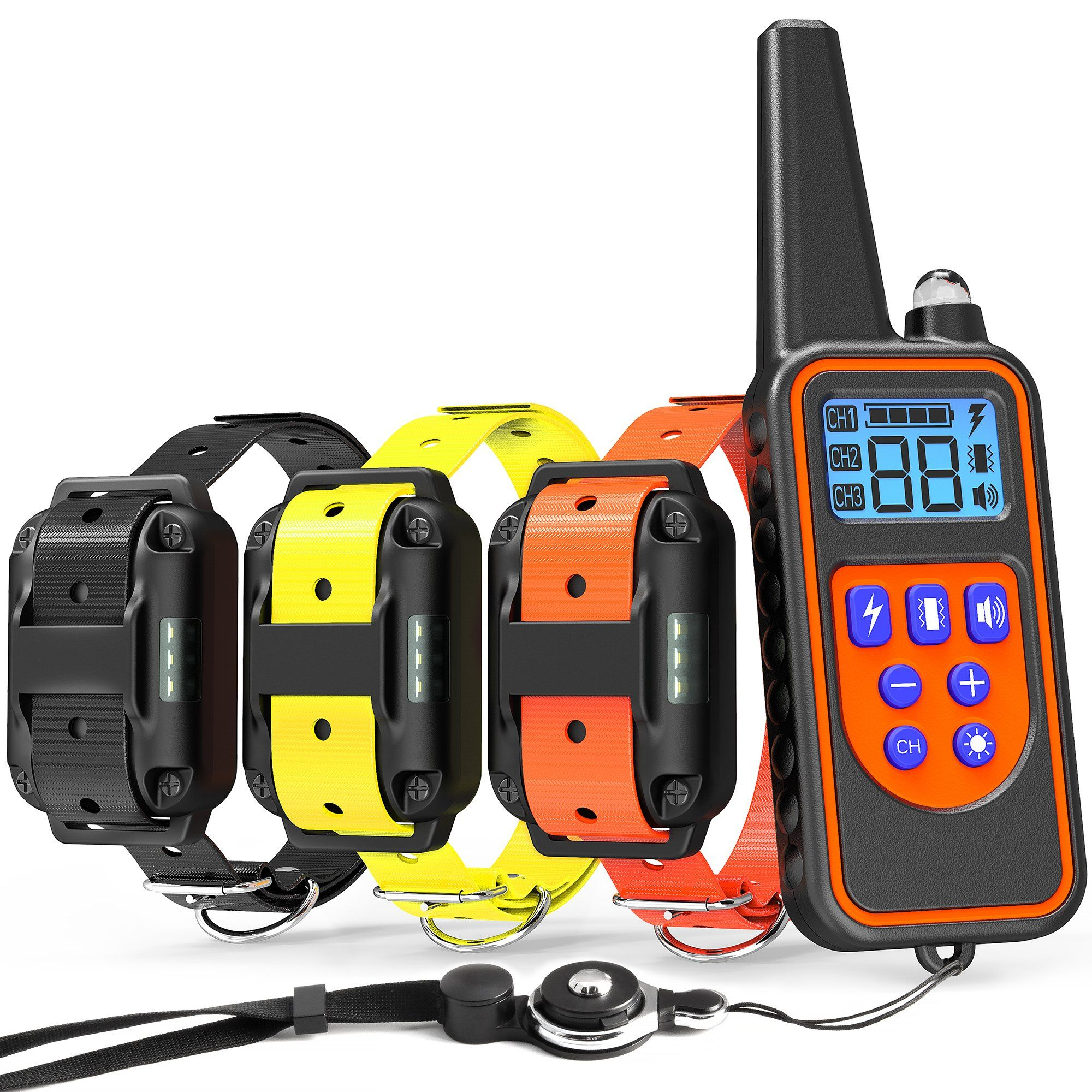 Veckle Dog Training Collar 2600ft Rechargeable Shock Collar For 3