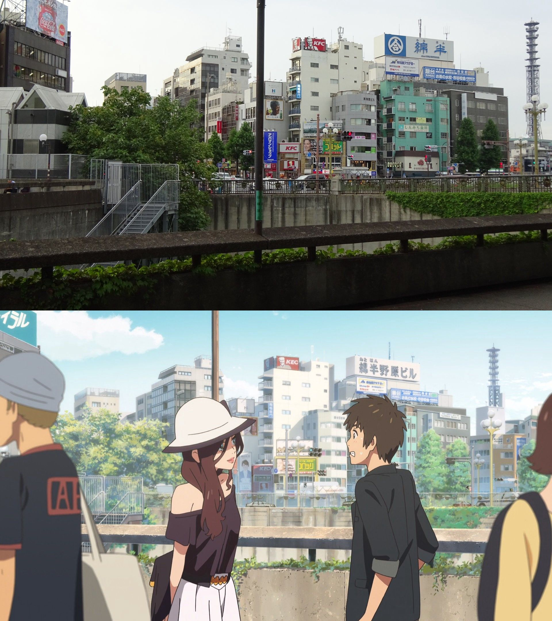 I visited real life locations from Kimi no Na wa. — seichi junrei (Tokyo side)