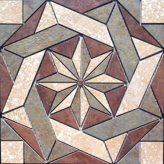 Brand New Hand Made 22 1 4 X 22 1 4 Porcelain Tile Medallion Medallion Is Made From The Following Daltile Tile Ser Mosaic Art Mosaic Medallion Mosaic Patterns