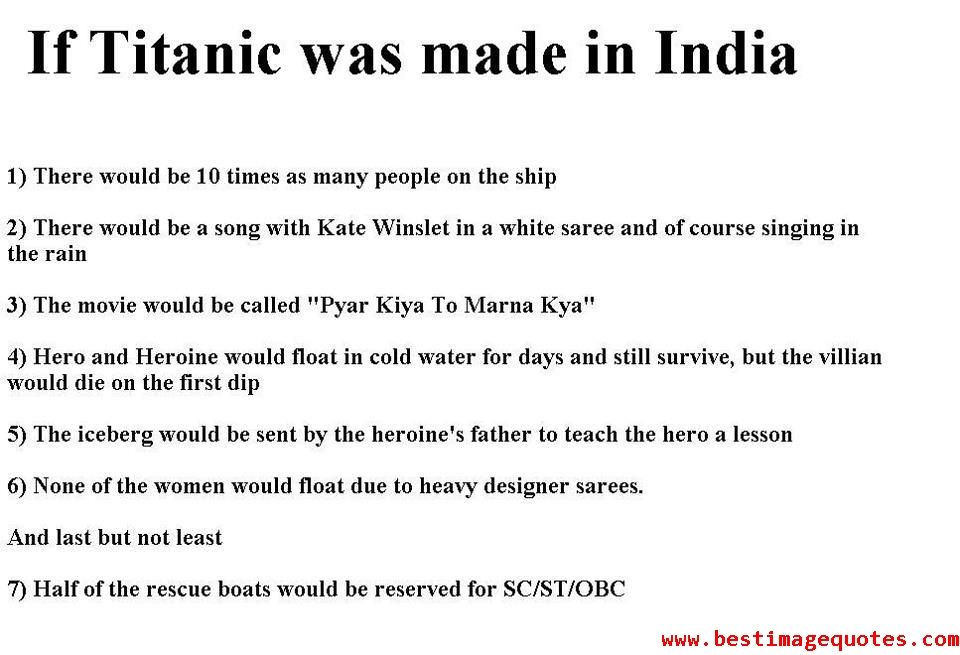 You have a leaked script of Indian Titanic :P   Trolls   Bollywood