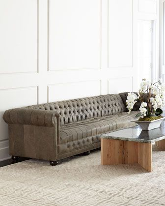Wiley Chesterfield Leather Tufted Sofa 132 Furniture Tufted Sofa