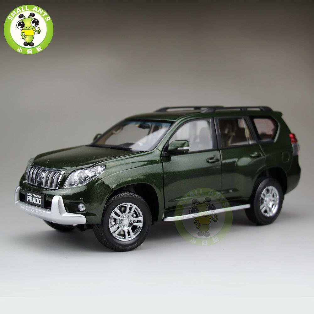 Scale toyota land cruiser prado diecast suv car model green in toys hobbies diecast toy vehicles cars trucks vans