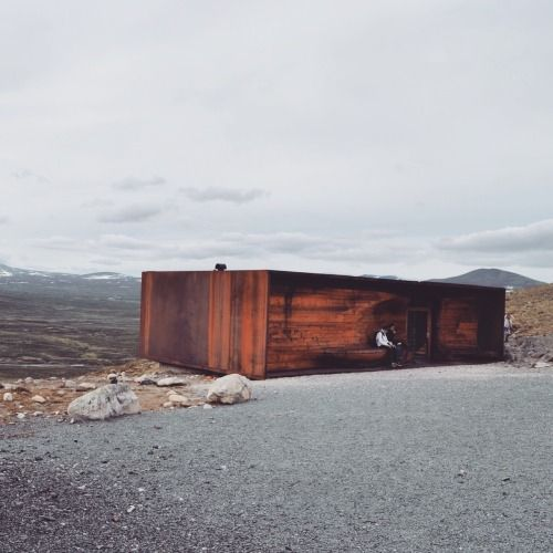 a-girl-from-the-north-country:  Snøhetta viewpoint Dovre Norway  - by Snøhetta Architects