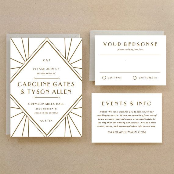 Printable wedding invitation template instant download gatsby editable template no locked fields for word on pc or pages on mac use your home computer to customize and print your own stunning wedding invitations stopboris Image collections
