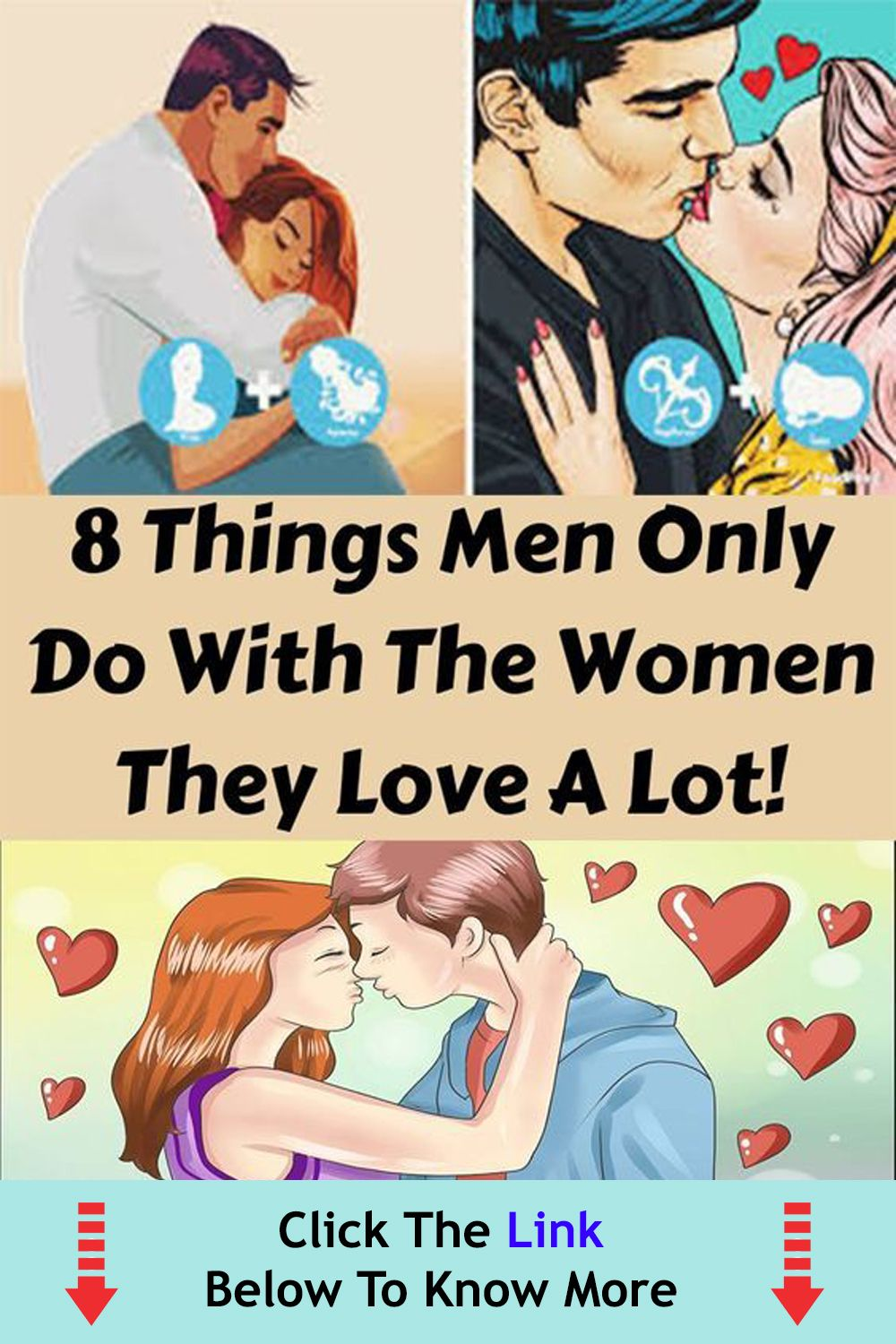 8 Things Men Only do with the women they love a lo