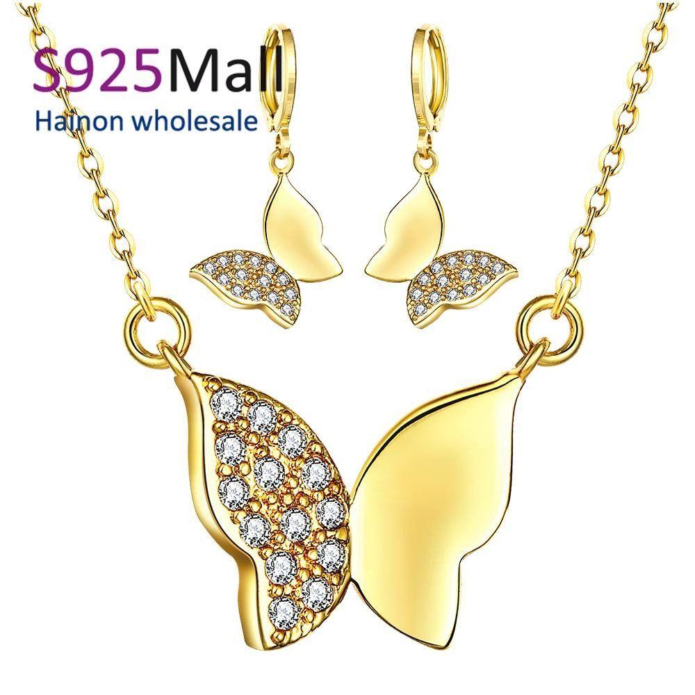 Fashion k environmental alloy anti allergy zircon jewelry set