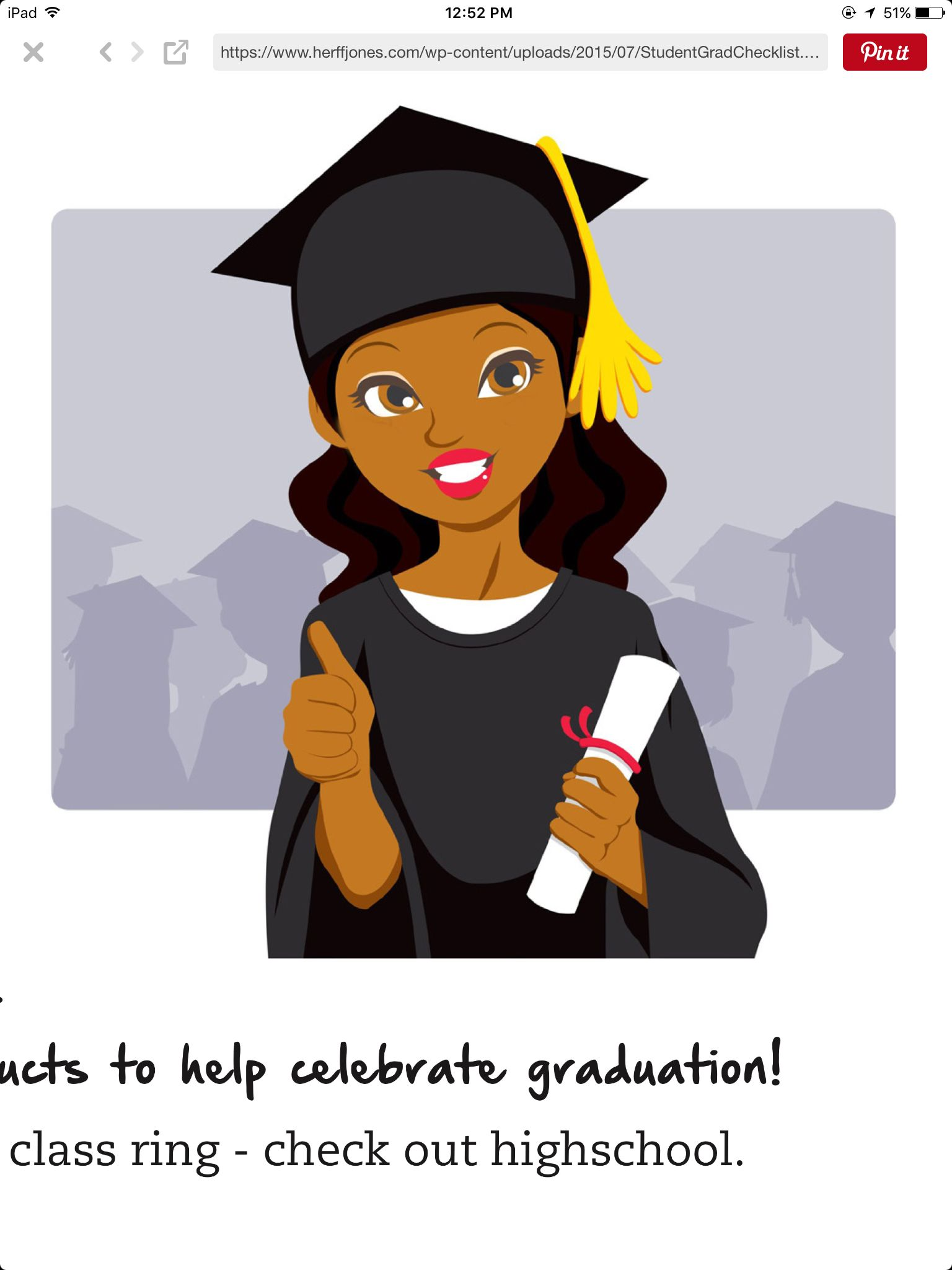 Senior Year Graduation Checklist S Herffjones