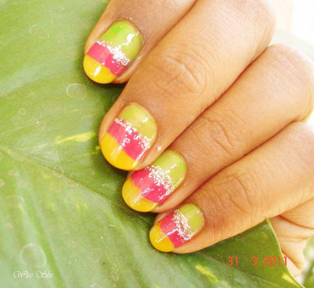 3 Simple Spring Nail Art Design Short Nails Art Nails And Nail Nail