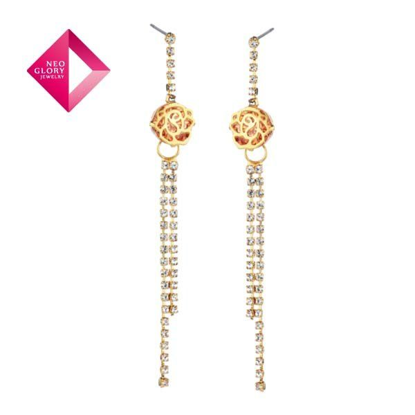 Aliexpress.com : Buy Free Shipping Neoglory Jewelry beautiful Drop Earrings for women elegant geometry fashion jewelry black acrylic chain wholesale from Reliable ear suppliers on NEOGLORY JEWELRY