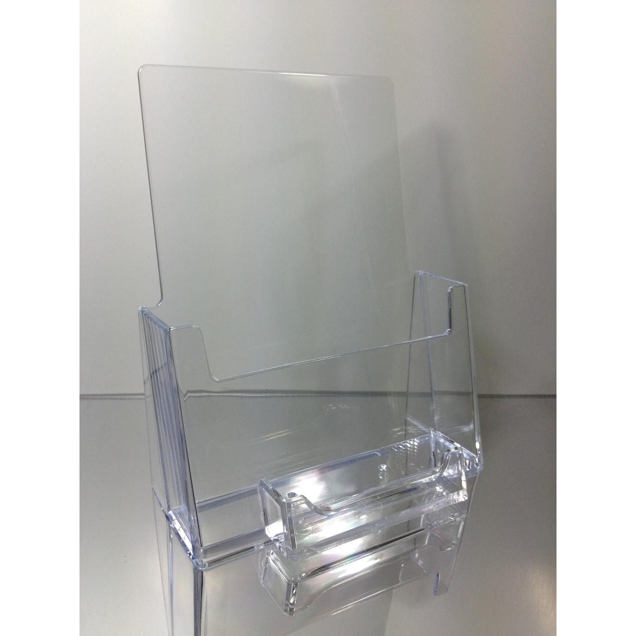Clear acrylic 55 x 85 bi fold countertop brochure holder with clear acrylic 55 x 85 bi fold countertop brochure holder with business card magicingreecefo Images