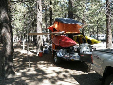 Homemade Kayak 2 Bike Mounts 3 On Utility Trailer Outdoor