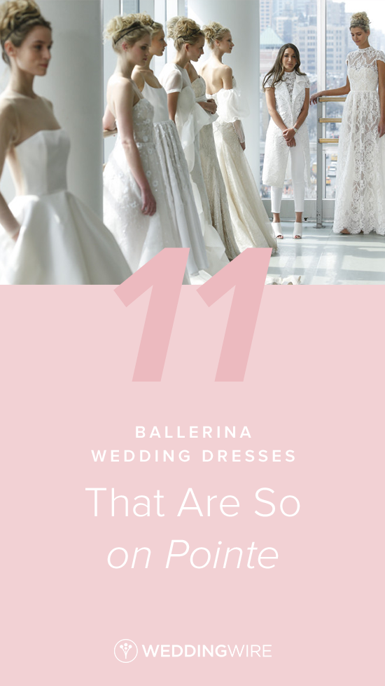 3f577f88c83 11 Ballerina Wedding Dresses That Are So on Pointe - From tight corset  bodices to flowing fabrics