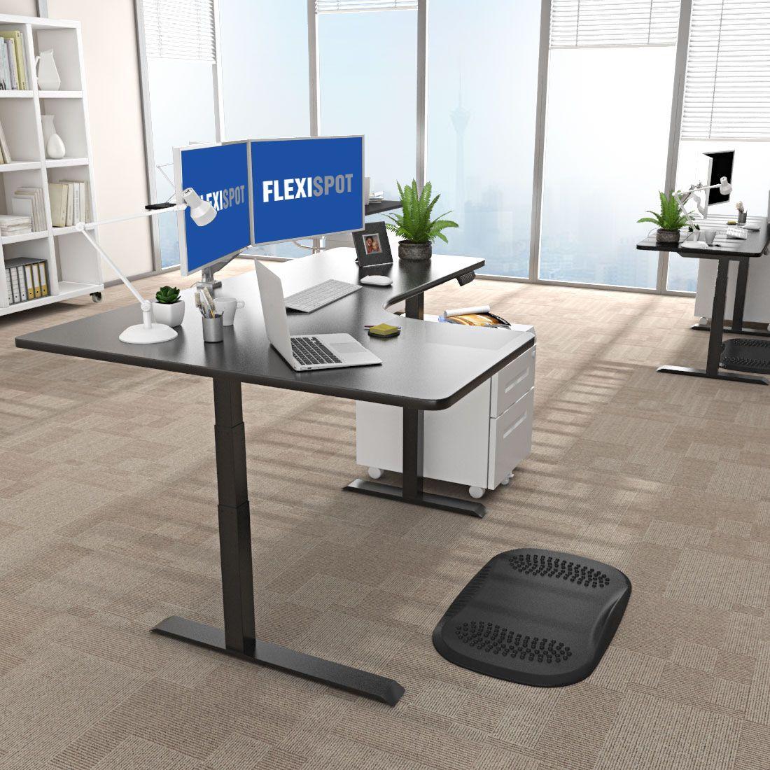 Electric Height Adjustable Desk L Shape 3 Stage Option E3l Flexispot Adjustable Height Standing Desk Diy Standing Desk Standing Desk