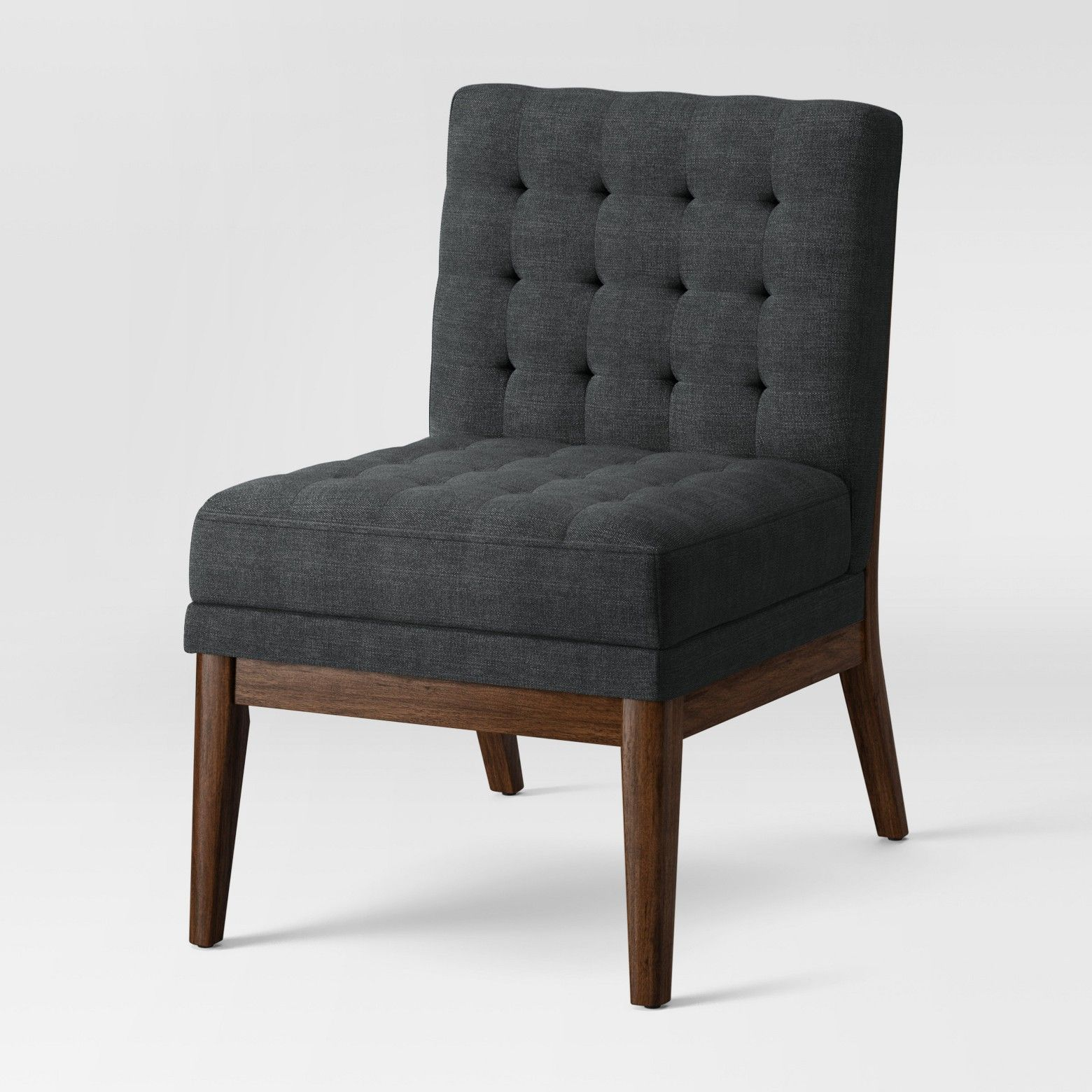 Wondrous Newark Tufted Slipper Chair With Wood Base Navy Project 62 Evergreenethics Interior Chair Design Evergreenethicsorg