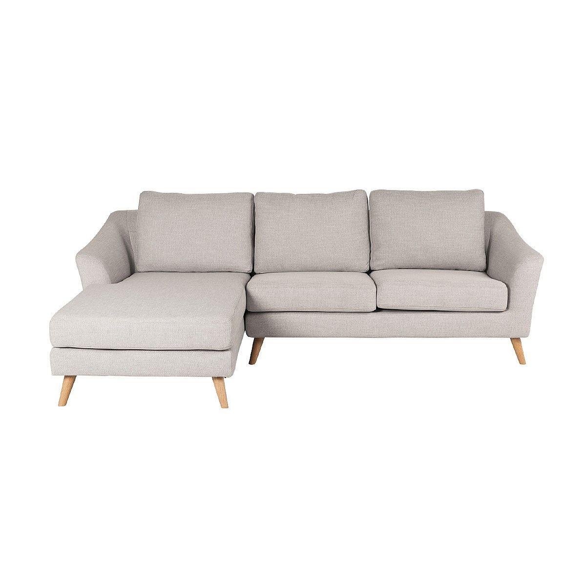 Hampton 2 Seater With Left Hand Chaise Light Grey Sofas Living Nood Nz Sofa Gray Sofa Living Sofa Shop
