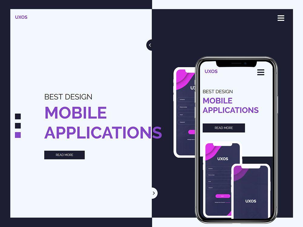 Webdevelopment Webdev Webdeveloper Webdesigner Uxos Mobile App Htmltemplate Is An Ideal Freew Free Html Website Templates App Template Html Templates