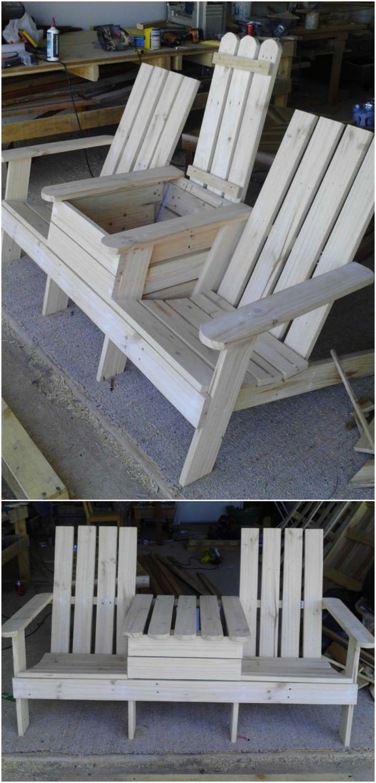 Build a Double Chair Bench with a Cooler | For the Home | Pinterest ...