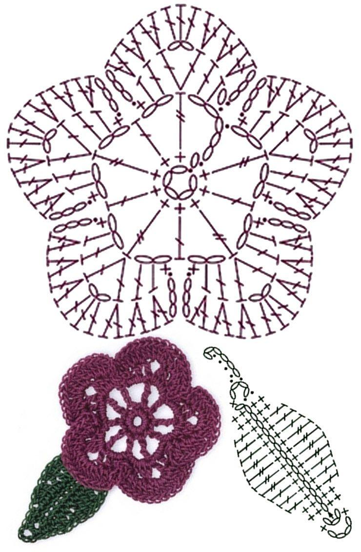 No.34 Petunia Crochet Flower Motifs / 피튜니아 코바늘 플라워 모티브 ...