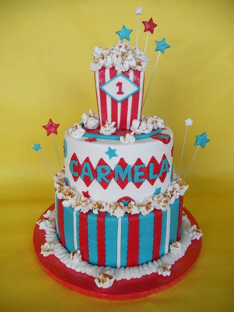 Vintage Carnival Themed Birthday Cake Carnival Vintage Carnival