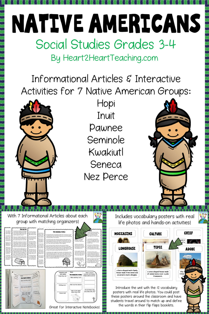 hight resolution of In this complete Native American Nonfiction Resource specifically geared  for 4th grade student…   4th grade social studies