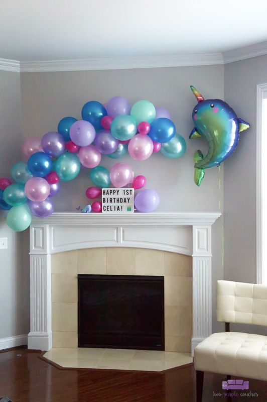 Narwhal Birthday Party #50thbirthdaypartydecorations