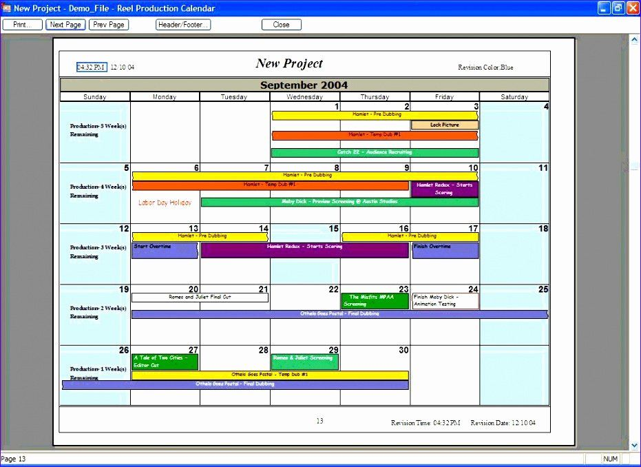 30 Production Planning Excel Template in 2020 Schedule