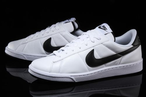buy online be2d6 d3c49 Nike-Tennis-Classic-Mens-Shoes-Sneakers-White-Black-Leather-312495-129 -All-Sizes