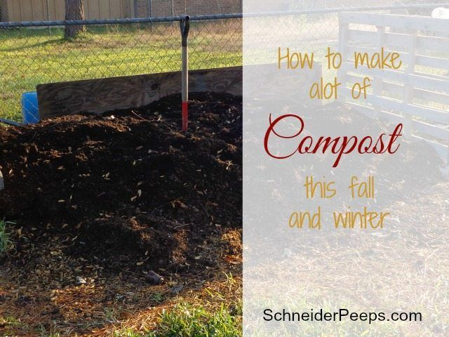How To Make A Lot Of Compost This Winter Compost Garden Soil