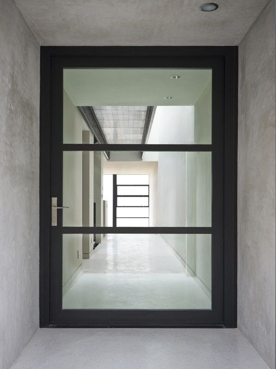 Modern entry exterior door modern glass entry doors for Residential front doors with glass