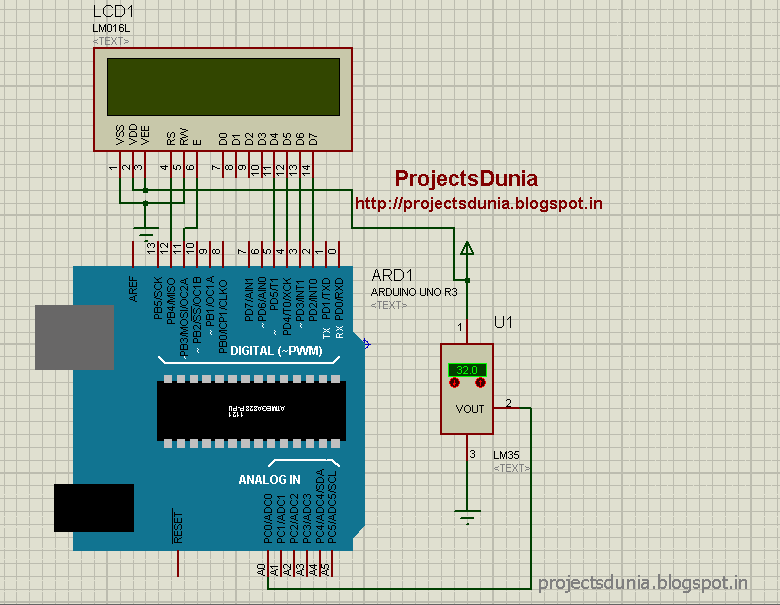 Circuit Diagram Of Digital Thermometer Using Lm35 Arduino Circuit