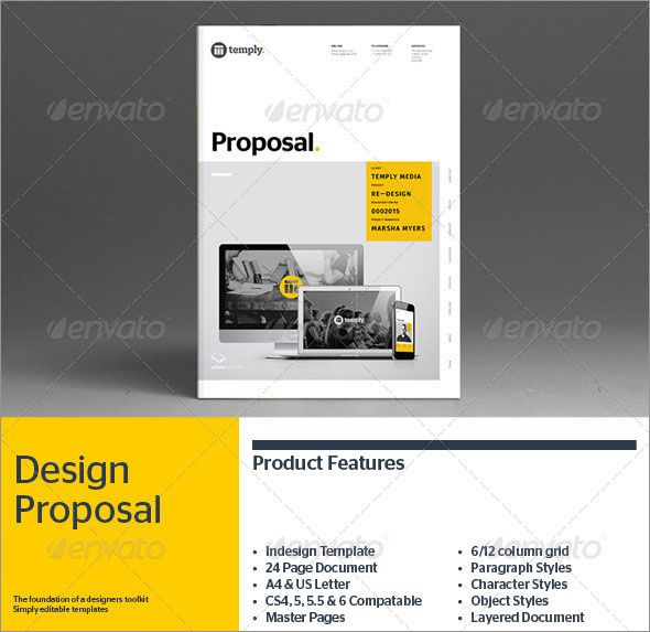 Amazing Photo Realistic Project Proposal Templates Proposal - project proposal template word