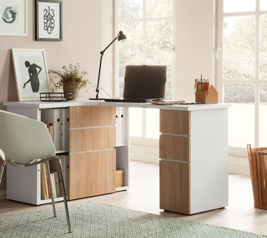 Bureau D Angle Scandinave Notre Selection De Modeles Pour Votre Deco Schreibtisch Platzsparende Mobel Schreibtisch Mit Glasplatte