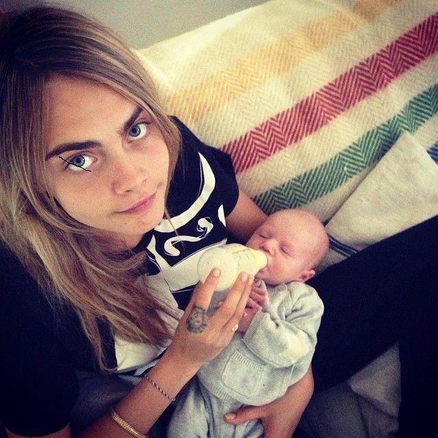 Cara Delevingne Introduces New Nephew On Instagram Cara