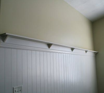 How To Make Your Own Beadboard Wall With Shelf Thanks To The