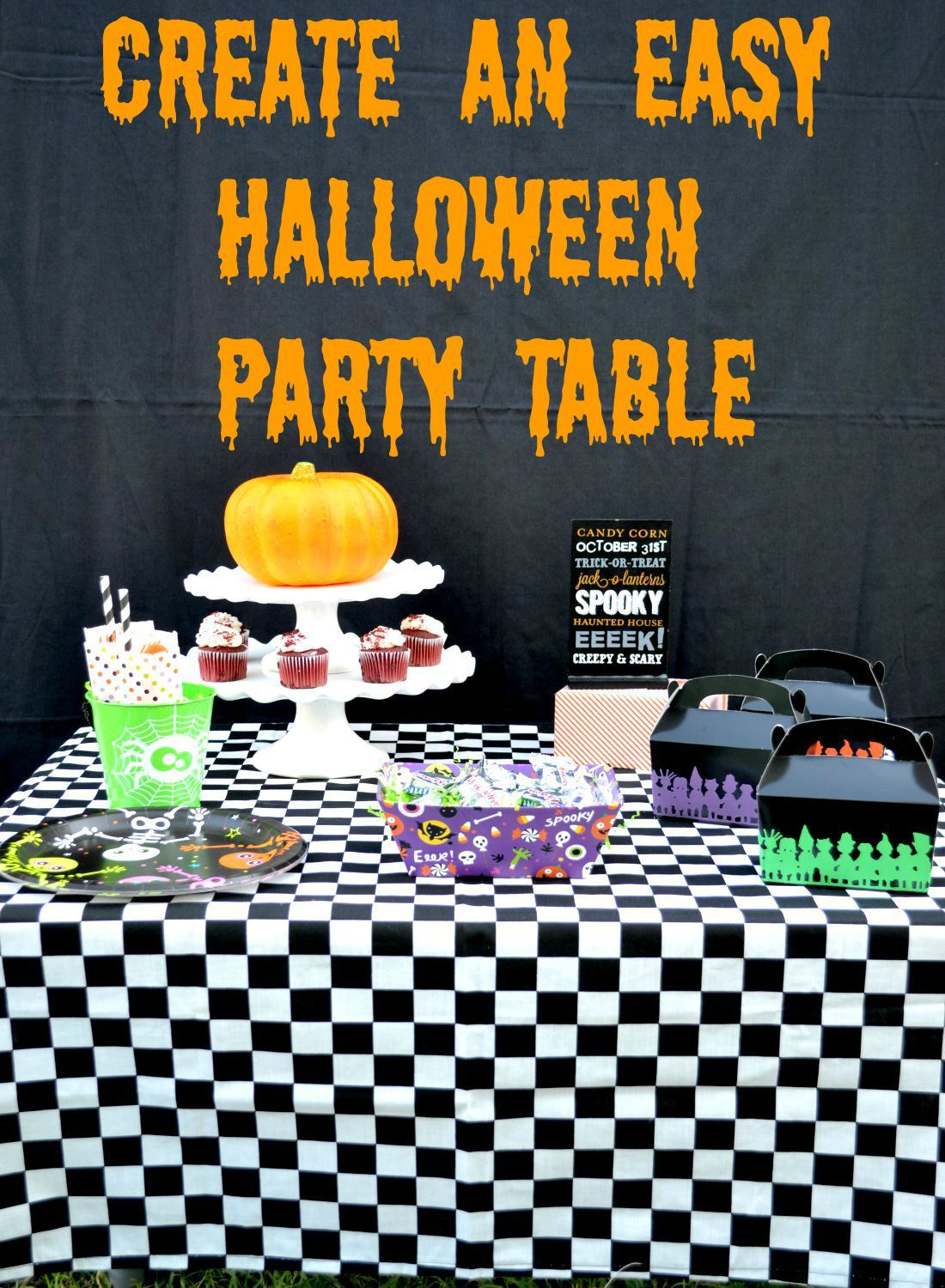 How To Create An Easy Halloween Party Table | Halloween party ...