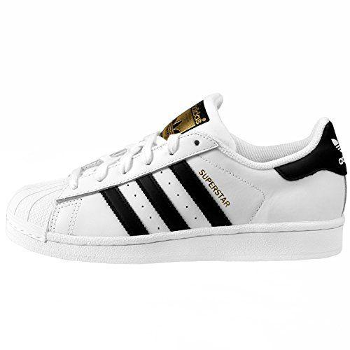 adidas Originals Superstar J Casual Low-Cut Basketball Sneaker (Big Kid), White/Black/White, 6.5 M US Big Kid - http://buyonlinemakeup.com/adidas/6-5-m-us-big-kid-adidas-superstar-j-c77154-4