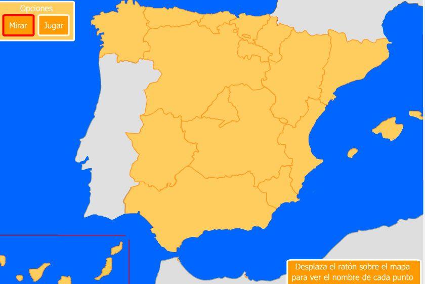 Recurso Para Estudiar Las Costas De Espana 1 Mapa Interactivo