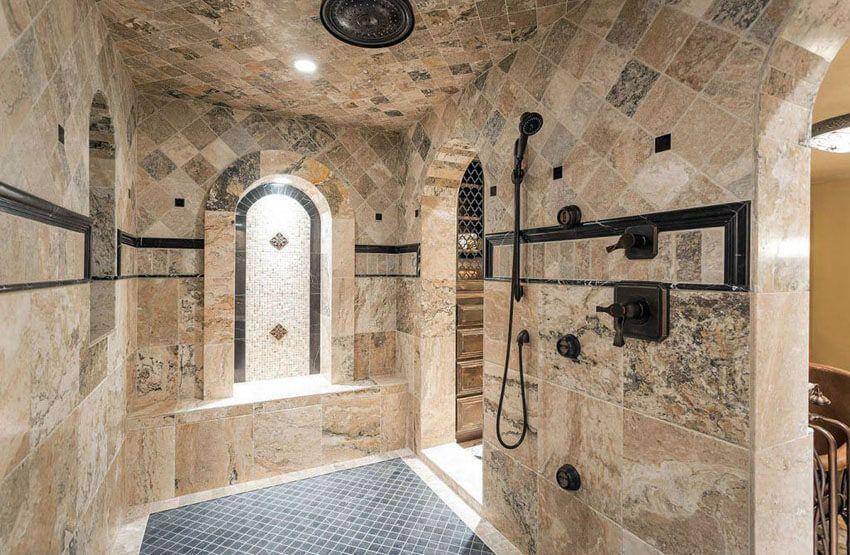 21+ Travertine Shower Ideas (Bathroom Designs ...