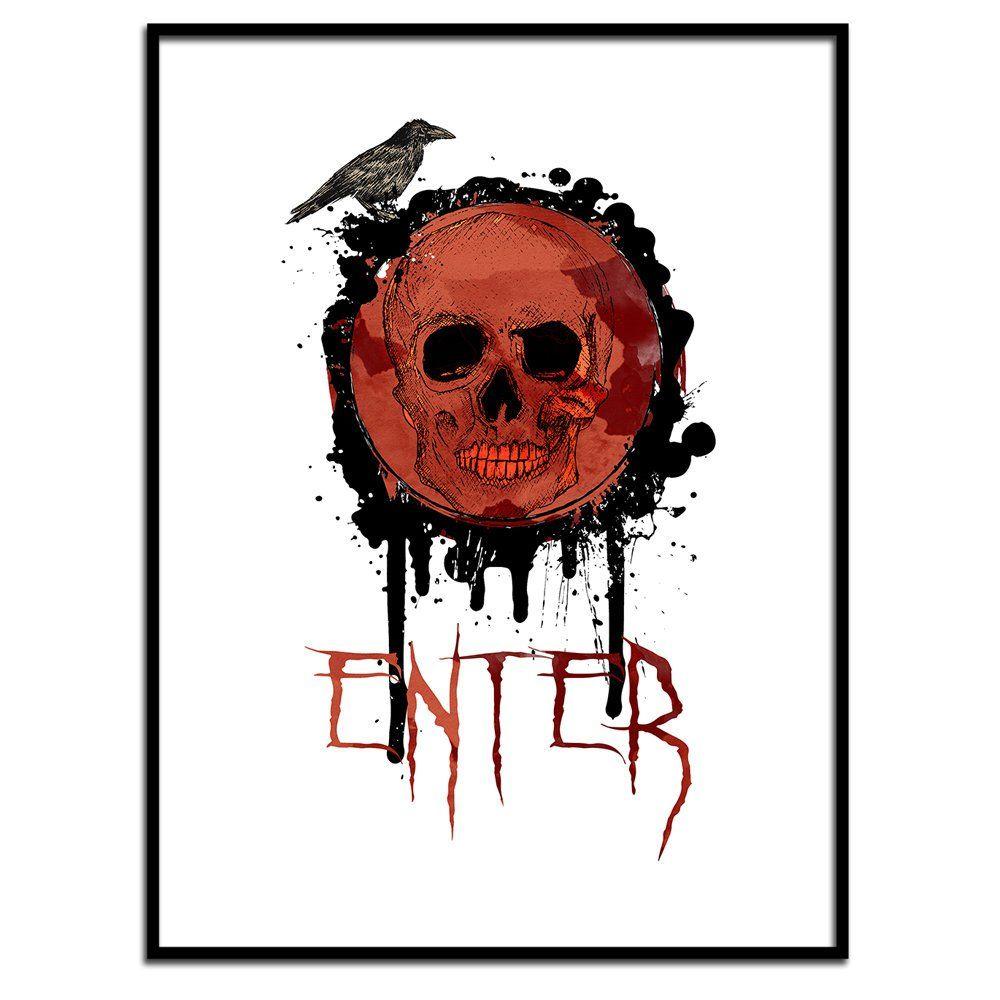 Enter Horror Print, Instant Download, Halloween Printables