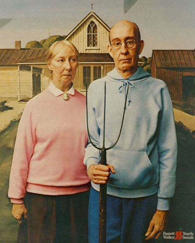 "American Gothic 8.5x11/"" Photo Print Grant Wood Classic Farmer and Wife Portrait"