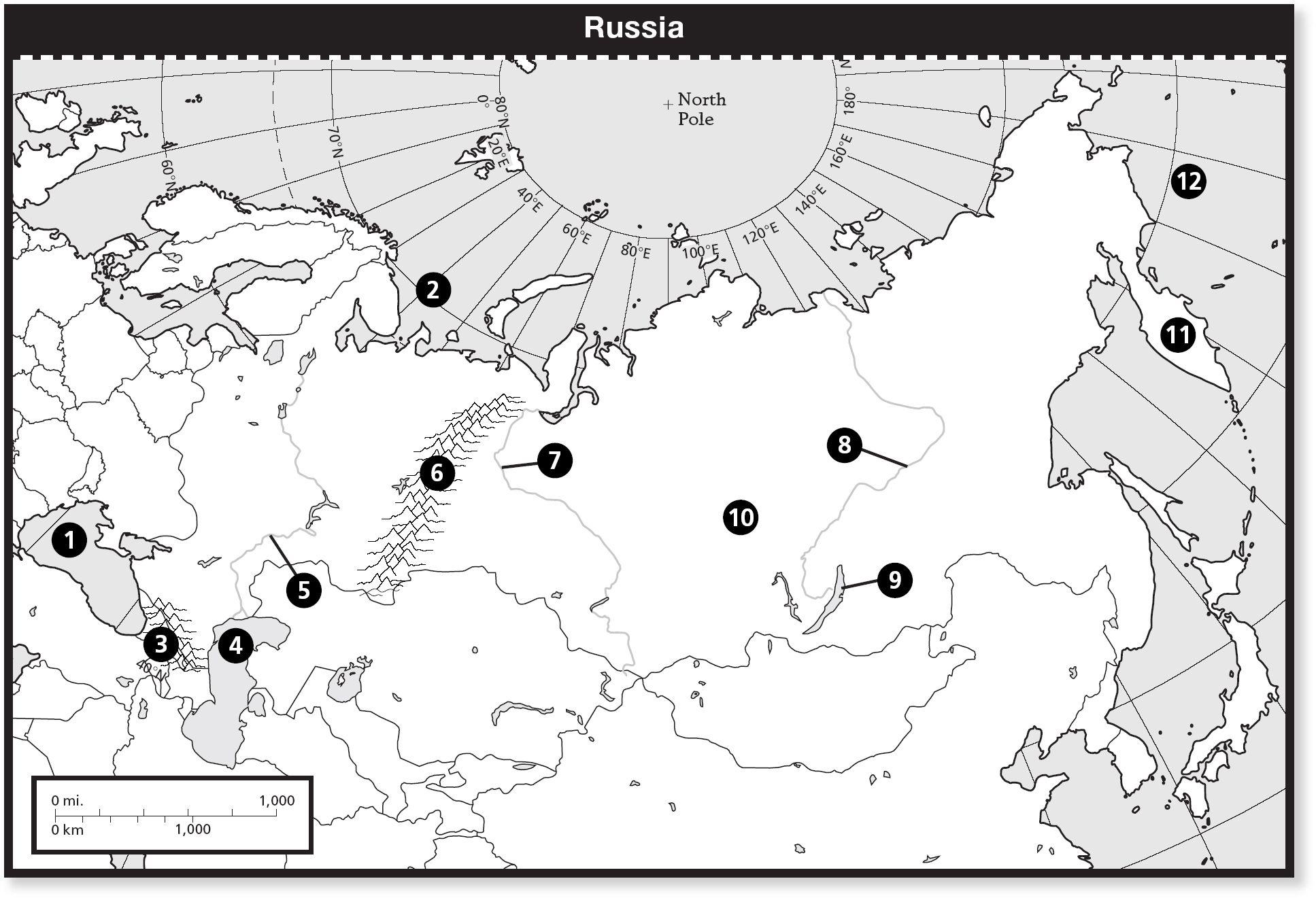 Russia Blank Map