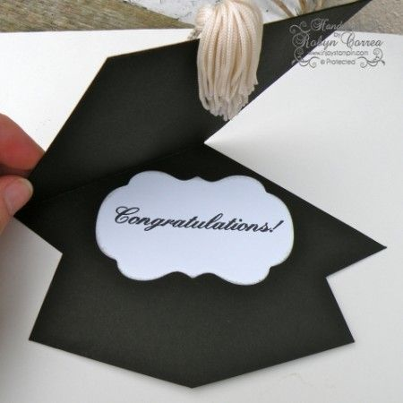 How To Make A Tassel & Graduation Cap Card – Dinglefoot'S Scrap
